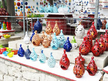 Traditional ceramic souvenirs shop Crete Greece Stock Photography