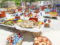 Traditional ceramic souvenirs shop Crete Greece Stock Image