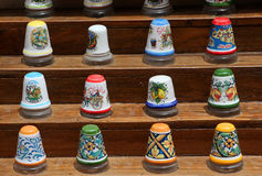 Traditional ceramic thimbles Royalty Free Stock Image