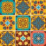 Traditional ceramic tiles patterns Royalty Free Stock Images