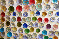 Traditional ceramics on Moroccan market Royalty Free Stock Images