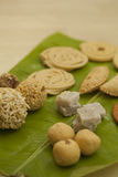Traditional Ceremonial Indian Sweets and Snacks from India Stock Photo