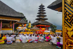 Traditional ceremonies. One of the traditional ceremonies in Bali Stock Photos