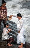 Traditional ceremony in Bali called Melukat. Stock Photography