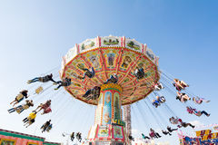 Traditional Chairoplane at Oktoberfest in Munich Royalty Free Stock Images