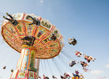 Traditional Chairoplane at Oktoberfest in Munich Stock Images