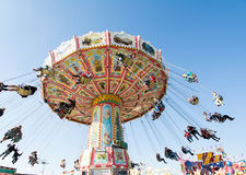 Traditional Chairoplane at Oktoberfest in Munich Stock Image