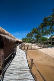 Traditional chalet at tropical resort Royalty Free Stock Images