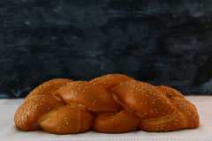 Traditional challah bread close up image stock photography