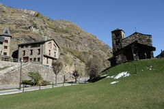 Traditional chapel in Andorra Royalty Free Stock Photography