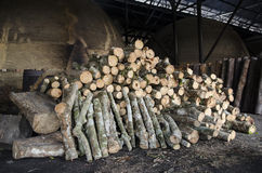 Traditional Charcoal factory, Sepetang, Malaysia Royalty Free Stock Photo