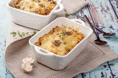 Traditional cheese casserole stock photos