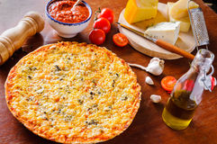 Traditional cheese pizza Royalty Free Stock Photos