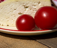 Traditional cheese and tomato Stock Photography