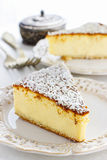 Traditional cheesecake Royalty Free Stock Photos