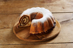 Traditional chestnut cake Stock Photography