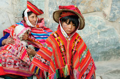 Traditional children from Peru Stock Images