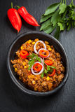 Traditional chilli con carne Stock Photos