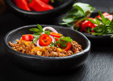 Traditional chilli con carne Royalty Free Stock Images