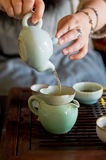 Traditional china tea and celadon cups Royalty Free Stock Photo