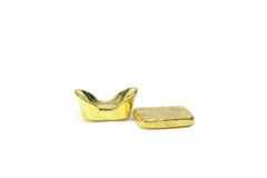 Traditional Chinese ancient gold bullion Stock Photography