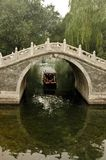 Traditional Chinese arc bridge. Traditional Chinese arc bridge over the canal in Summer palace, Beijing, China Stock Photography