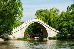 Traditional Chinese arch bridge Royalty Free Stock Images