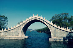 Traditional Chinese arch bridge Stock Photography