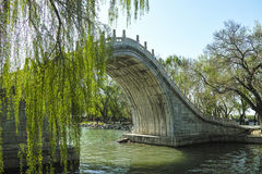 Traditional Chinese arch bridge Stock Photos