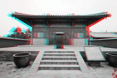 Traditional Chinese Architecture in 3D Royalty Free Stock Photography