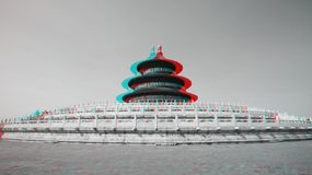 Traditional Chinese Architecture in 3D Royalty Free Stock Photos