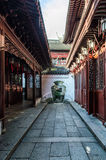 Traditional Chinese architecture arch alleyway Shanghai Royalty Free Stock Images