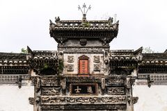 Traditional Chinese Door Header royalty free stock image
