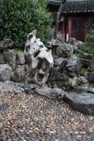 Pavilion In Yu Yuan Gardens, Shanghai. Architecture, green. royalty free stock image