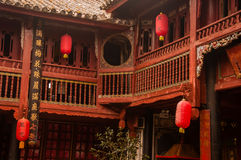 Traditional Chinese Bai Architecture Style Stock Photos