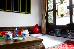 Traditional chinese bedroom Stock Photography