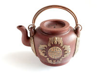 Traditional Chinese big clay teapot Royalty Free Stock Photography