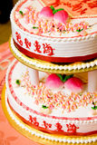 Traditional chinese birthday cake Royalty Free Stock Photography