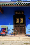 traditional chinese blue house Stock Photos