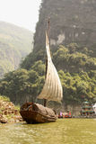 Traditional Chinese boat on Yangtze river, China Stock Photography