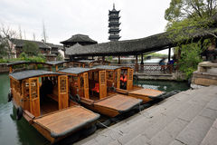 Traditional Chinese boats Royalty Free Stock Images