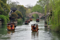 Traditional Chinese boats Stock Images