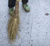 Traditional Chinese Broom Royalty Free Stock Photo