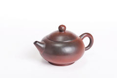 Traditional Chinese brown rounded teapot Stock Photography