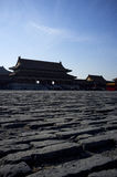 Traditional Chinese building built by brick Stock Image