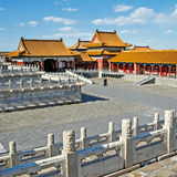 Traditional Chinese Building, Forbidden City in Beijing, clean sunny day Royalty Free Stock Photos