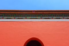 Traditional Chinese building under blue sky Stock Image