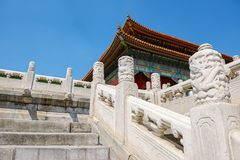 Traditional Chinese building under blue sky Royalty Free Stock Images