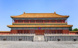 Traditional Chinese building under blue sky Stock Photos