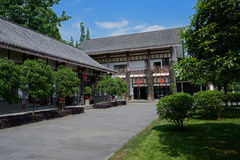 Traditional Chinese buildings in sunny spring Stock Images